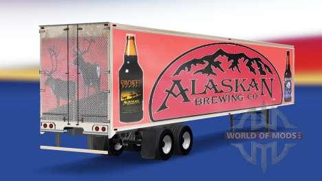 Скин Alaskan Brewing Company на полуприцеп для American Truck Simulator