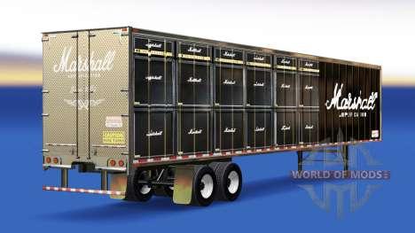 Скин Marshall Amplification на полуприцеп для American Truck Simulator