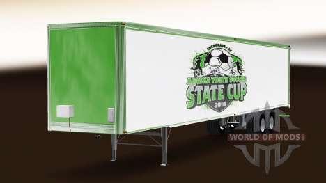 Скин Alaska Youth Soccer на полуприцеп для American Truck Simulator