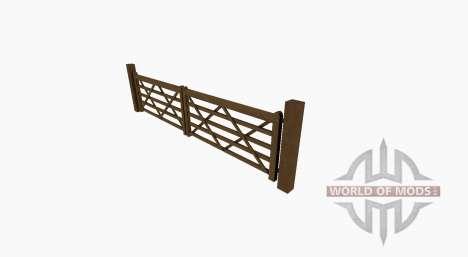 Деревянные ворота с калиткой для Farming Simulator 2017