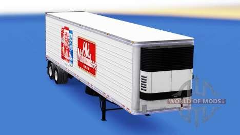 Скин Old Milwaukee на полуприцеп для American Truck Simulator