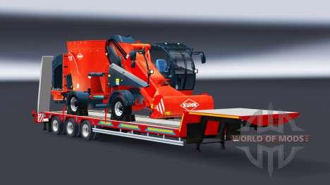 Сборник низкорамных тралов с грузами для Euro Truck Simulator 2