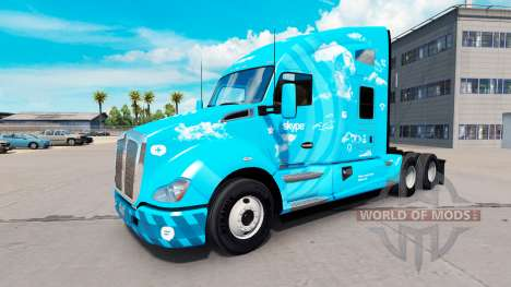 Скин Skype на тягач Kenworth для American Truck Simulator