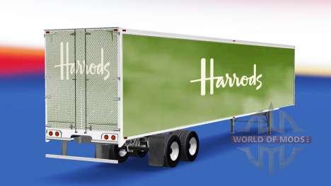 Скин Harrods на полуприцеп для American Truck Simulator