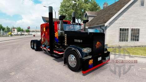 Скин Arizona USA на тягач Peterbilt 389 для American Truck Simulator