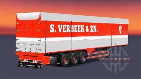 Самосвальный полуприцеп Bodex S.Verbeek & ZN. для Euro Truck Simulator 2