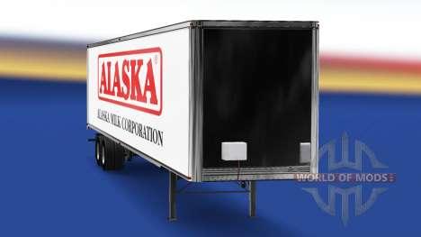 Скин Alaska Milk Corporation на полуприцеп для American Truck Simulator