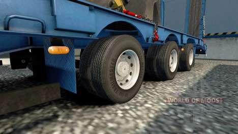 Двойные колёса для полуприцепов для Euro Truck Simulator 2