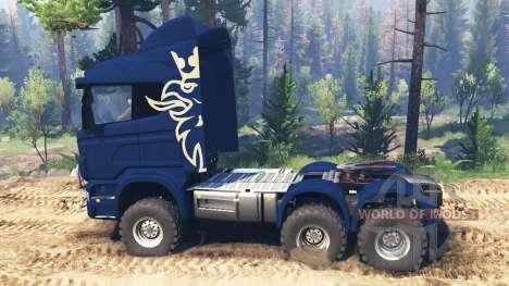 Scania R730 v2.0 для Spin Tires