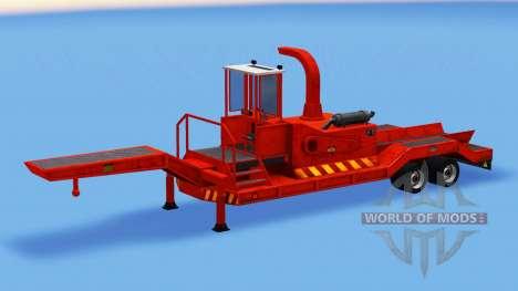 Полуприцеп с измельчителем древесины для American Truck Simulator