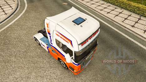 Скин FedEx Express на тягач Scania для Euro Truck Simulator 2