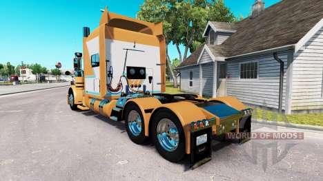 Скин Chad Blackwell на тягач Peterbilt 389 для American Truck Simulator