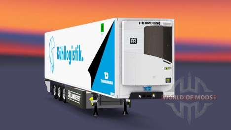 Полуприцеп-рефрижератор Lamberet Transdanubia для Euro Truck Simulator 2