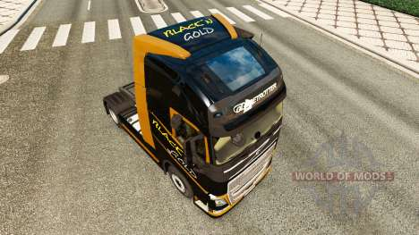 Скин Black Gold на тягач Volvo для Euro Truck Simulator 2