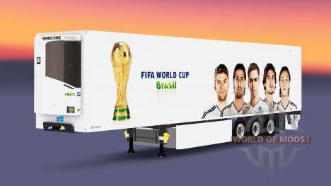 Полуприцеп-рефрижератор Lamberet FIFA World Cup для Euro Truck Simulator 2