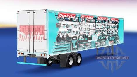 Скин Makita v2.0 на полуприцеп для American Truck Simulator