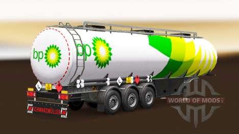 Скин BP на топливный полуприцеп для Euro Truck Simulator 2
