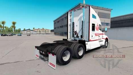 Скин Canadian Express White на тягач Kenworth для American Truck Simulator
