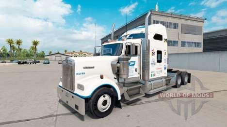 Скин United States Postal на Kenworth W900 для American Truck Simulator