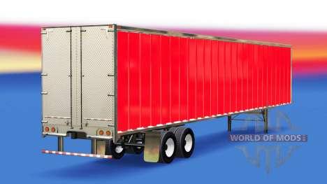 Скин Red на полуприцеп для American Truck Simulator
