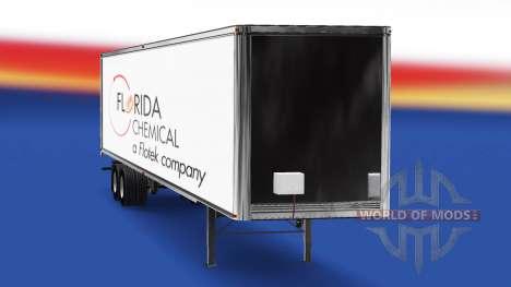 Скин Florida Chemical на полуприцеп для American Truck Simulator