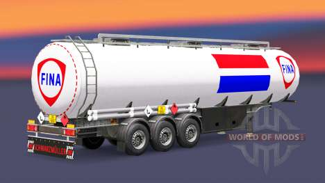 Скин Fina на топливный полуприцеп для Euro Truck Simulator 2