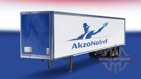 Скин AkzoNobel на полуприцеп для American Truck Simulator