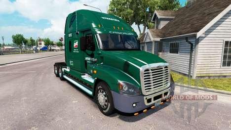 Скин INTERSTATE на тягач Freightliner Cascadia для American Truck Simulator