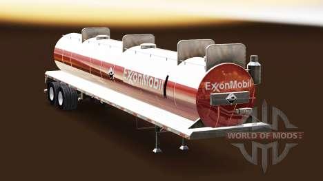 Скин ExxonMobil на цистерну для кислот для American Truck Simulator