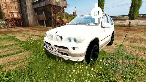 BMW X5 Unmarked Police для Farming Simulator 2017