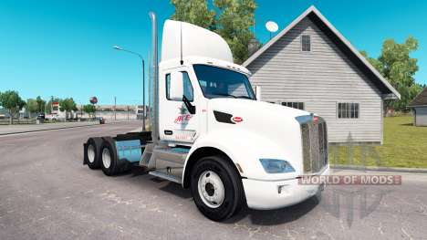 Скин Ace Beverages на тягач Peterbilt для American Truck Simulator