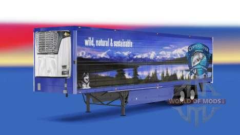 Скин Copper River Seafoods v2.0 на полуприцеп для American Truck Simulator