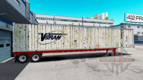 Полуприцеп контейнеровоз Vitran для American Truck Simulator