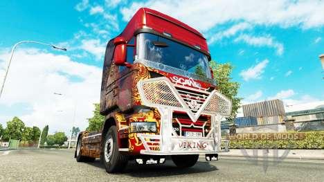Кенгурятник Viking на тягач Scania для Euro Truck Simulator 2