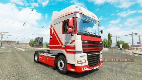 Скин TruckSim на тягач DAF для Euro Truck Simulator 2