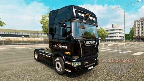 Скин Tegma Logistic на тягач Scania для Euro Truck Simulator 2