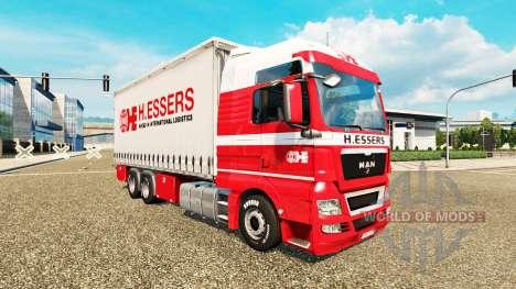 Скин H.Essers на тягач MAN TGX Tandem для Euro Truck Simulator 2