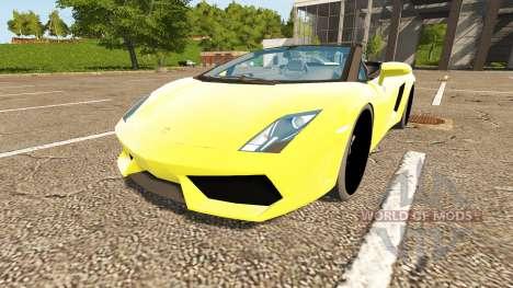Lamborghini Gallardo Spyder для Farming Simulator 2017