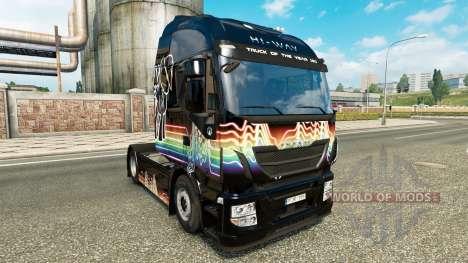 Скин Rainbow Dash на тягач Iveco для Euro Truck Simulator 2