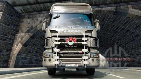 Кенгурятник V8 v3.0 на тягач Scania для Euro Truck Simulator 2