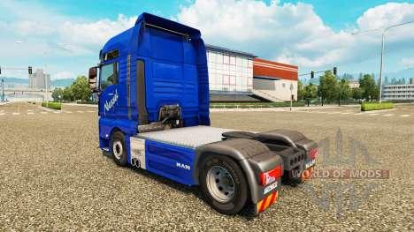 Скин Nettle Transports на тягач MAN для Euro Truck Simulator 2
