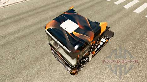 Скин Matte Orange на тягач Renault для Euro Truck Simulator 2