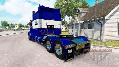 Скин Blue and White на тягач Peterbilt 389 для American Truck Simulator