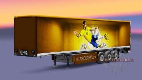 Скин Brazil 2014 на полуприцепы для Euro Truck Simulator 2