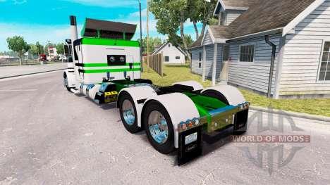 Скин White-metallic green на тягач Peterbilt 389 для American Truck Simulator