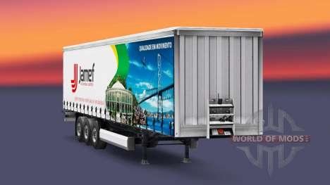 Скин Jamef Logistic на шторный полуприцеп для Euro Truck Simulator 2