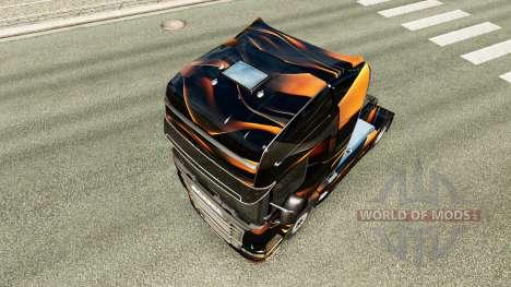 Скин Matte Orange на тягач Scania для Euro Truck Simulator 2