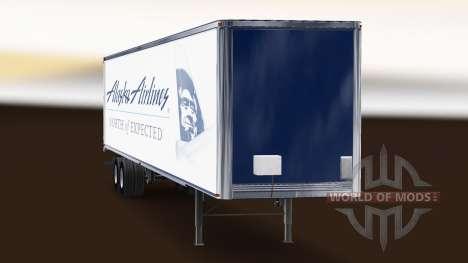 Скин Alaska Airlines на полуприцеп для American Truck Simulator