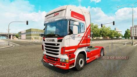 Скин TruckSim на тягач Scania для Euro Truck Simulator 2