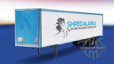 Скин Shred Alaska на полуприцеп для American Truck Simulator